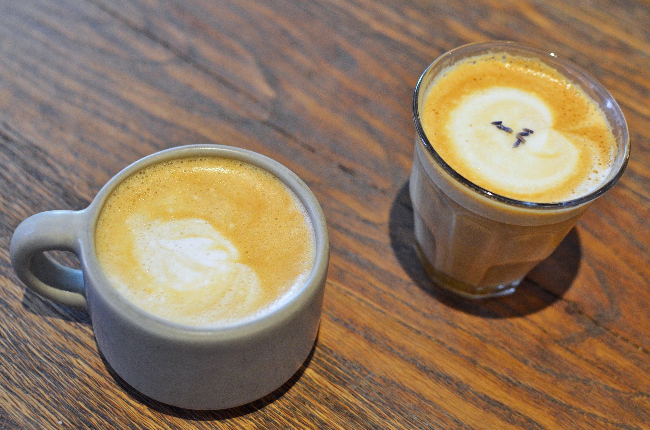 Cappuccino and cortado