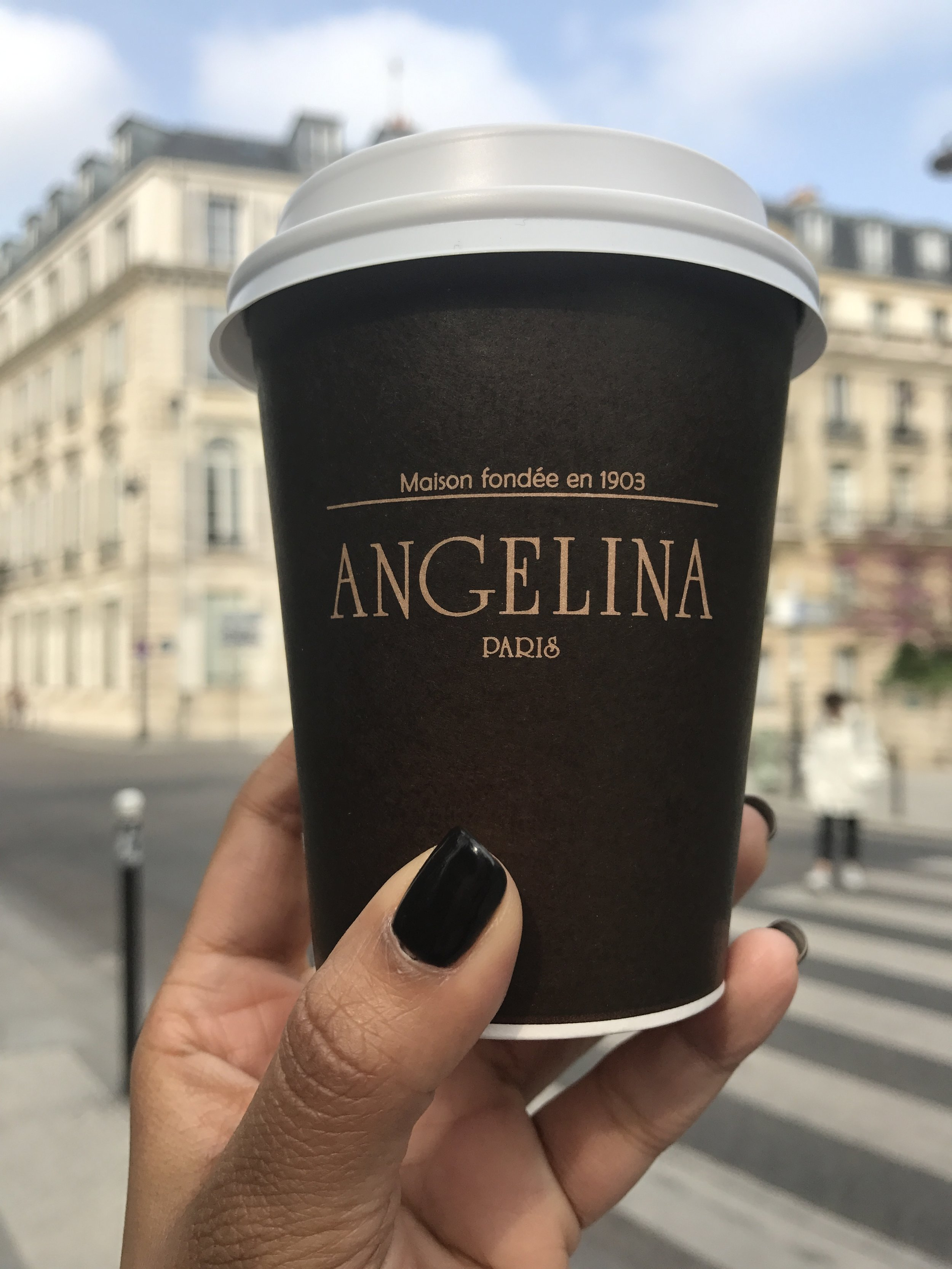 Cappuccino- Angelina sprinkles some cocoa on top of the cappucinno which you will love!