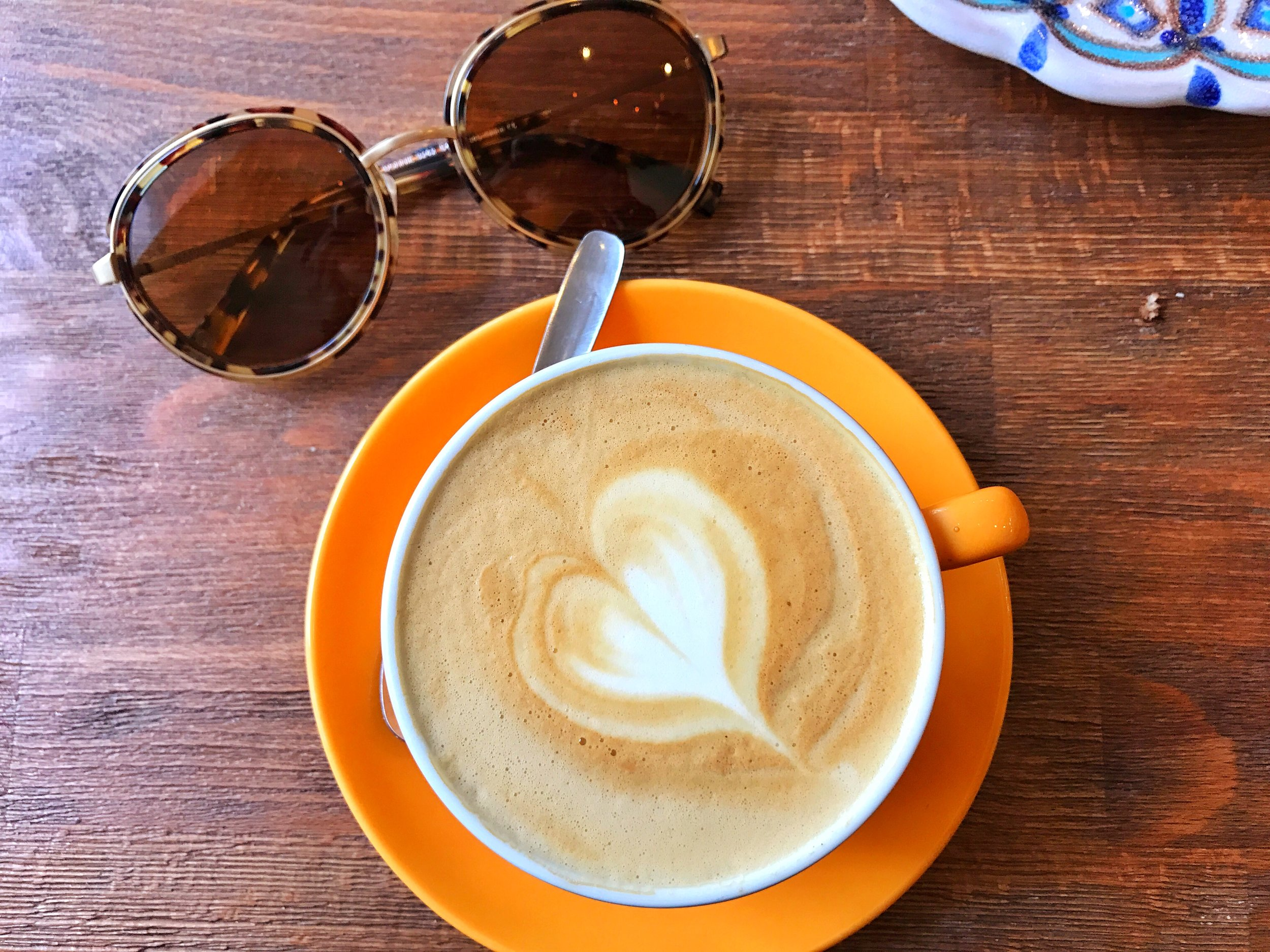 Cappucinno- The cappcuino was perfectl sweetened and I loved starting my morning this way.