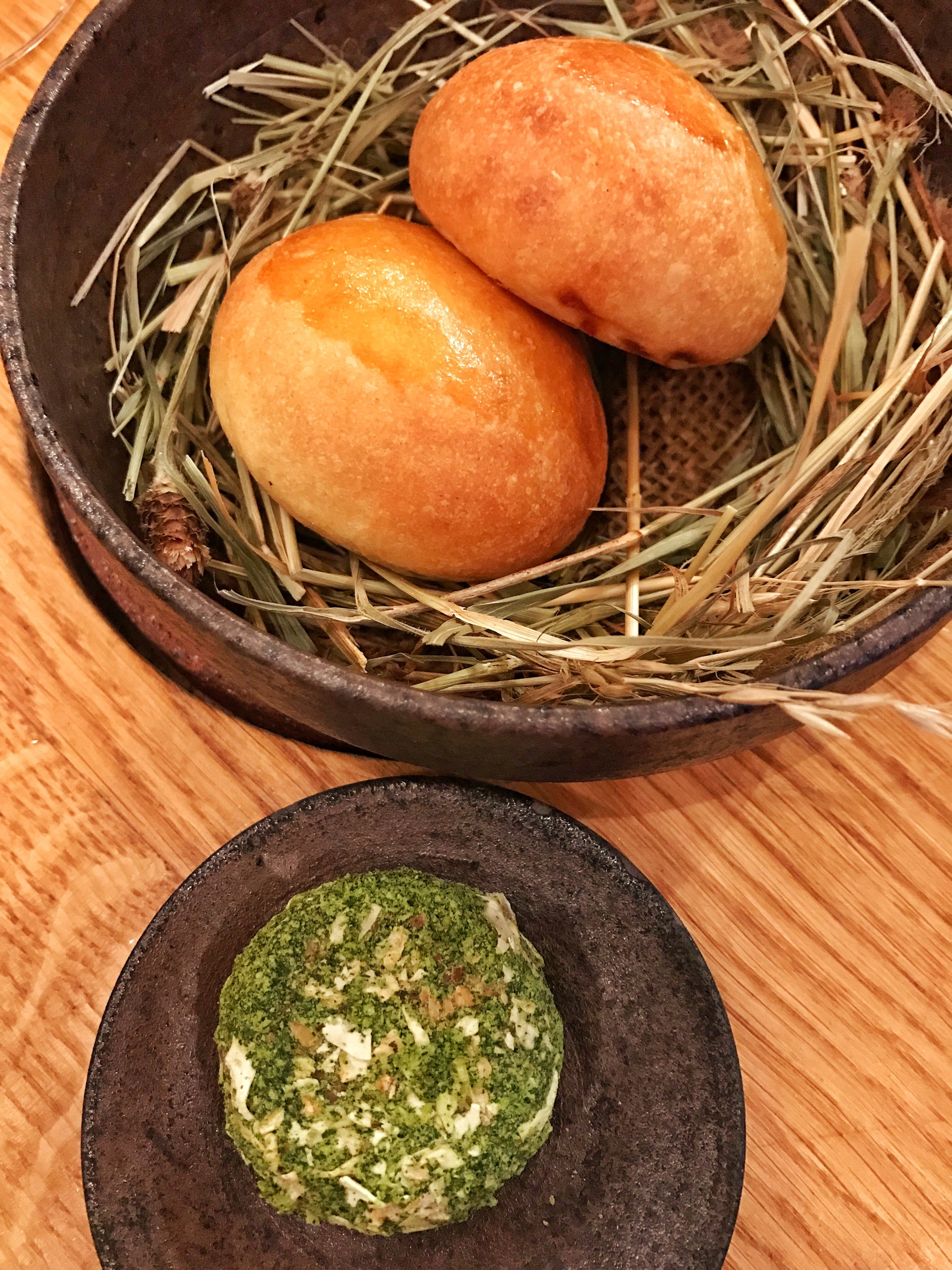 Brioche buns with smoked herb butter- Let's just just leave it at the French know how to make bread. The buns with French butter were incredible.