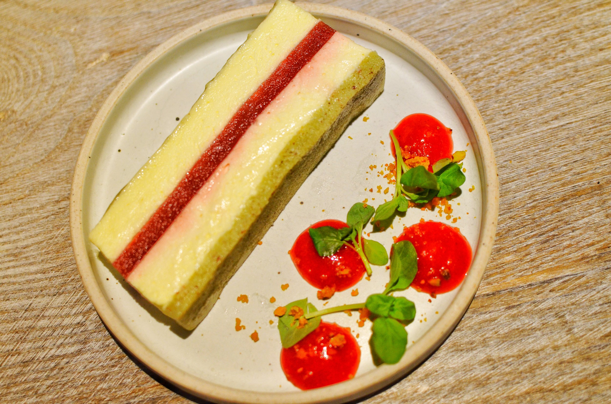 STRAWBERRY CHEESE MOUSSE CAKE-  Pistachio, Mint