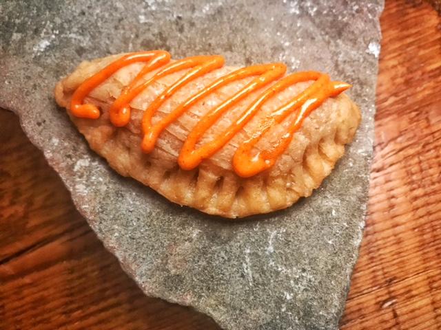 Corn- empanada, pork belly, nectar