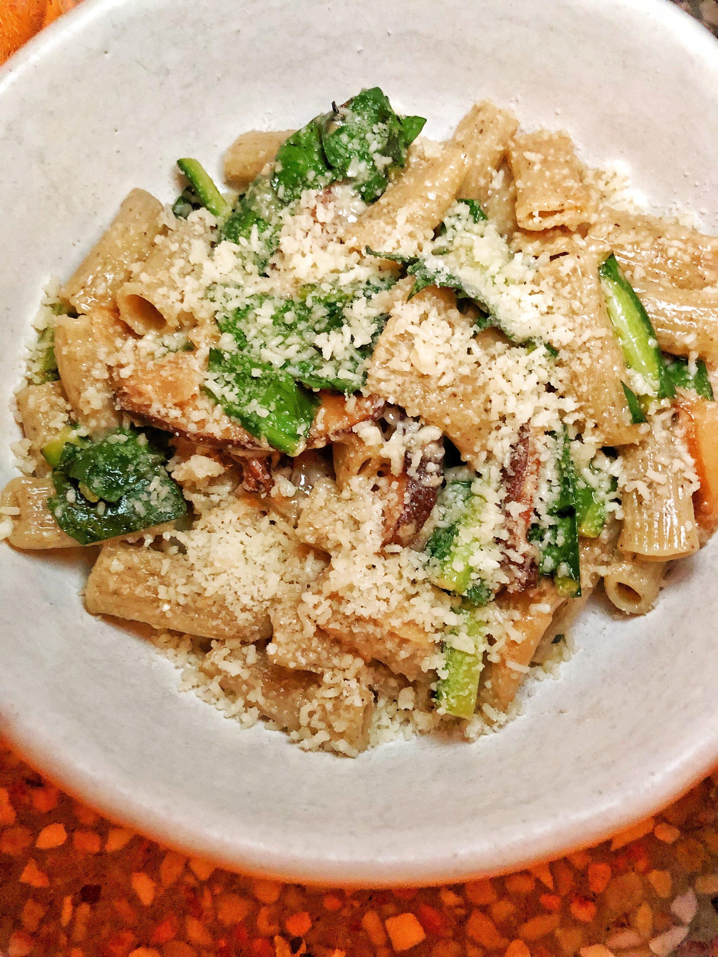 Buckwheat Rigatoni-shitake mushroom, dandelion greens, parmesan