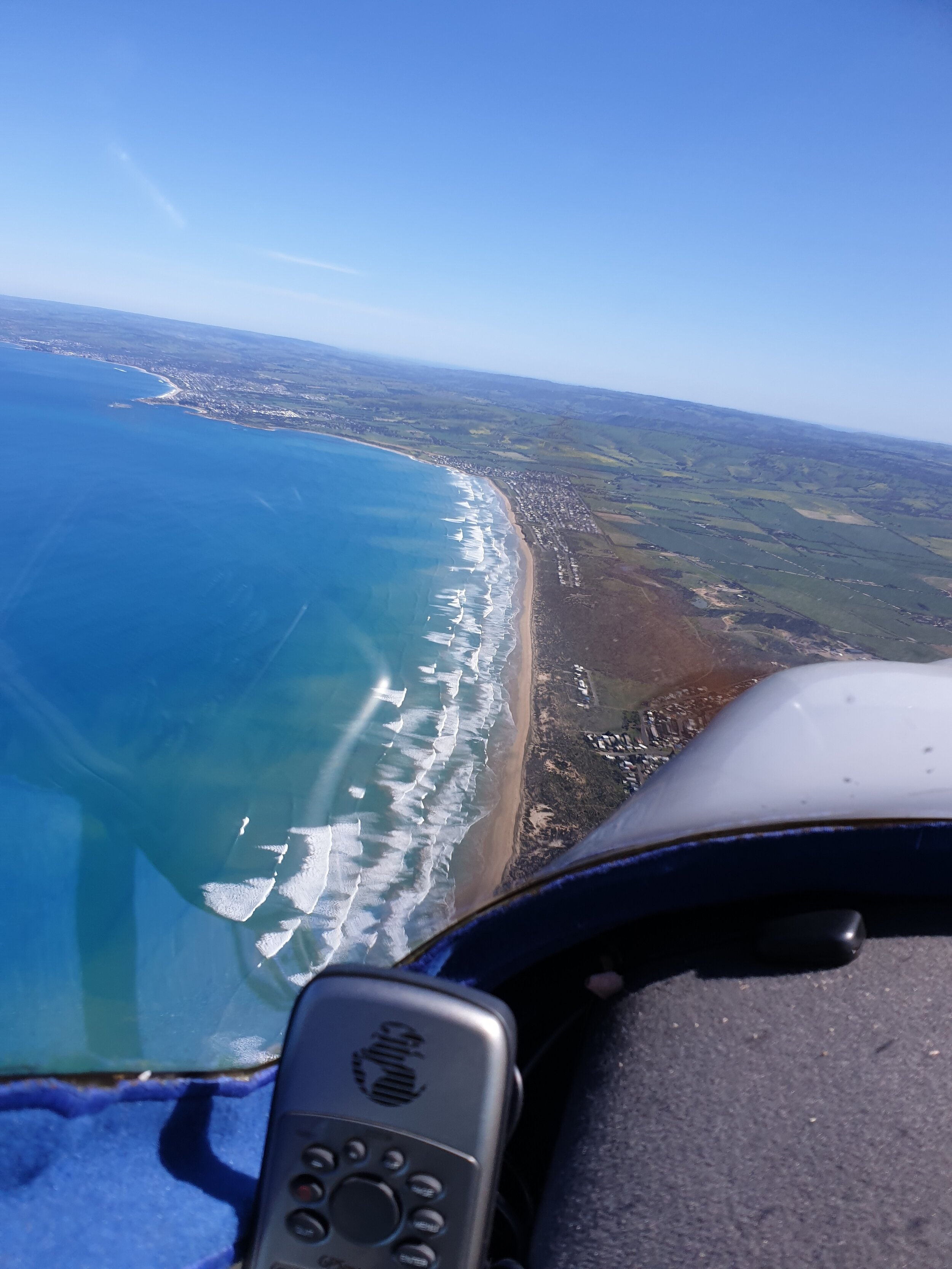 Between Murray Mouth and Middleton at 2500 feet