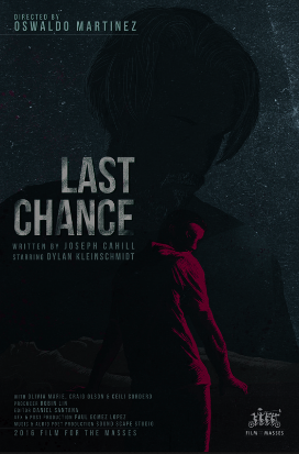 LAST CHANCE, dir. Oswaldo Martinez, USA (WISCONSIN FILM) - When a man is released from prison after fifteen years, he must choose between his old life and moving on. Though his inner demons won't go quietly. The devil may be closer than you think.