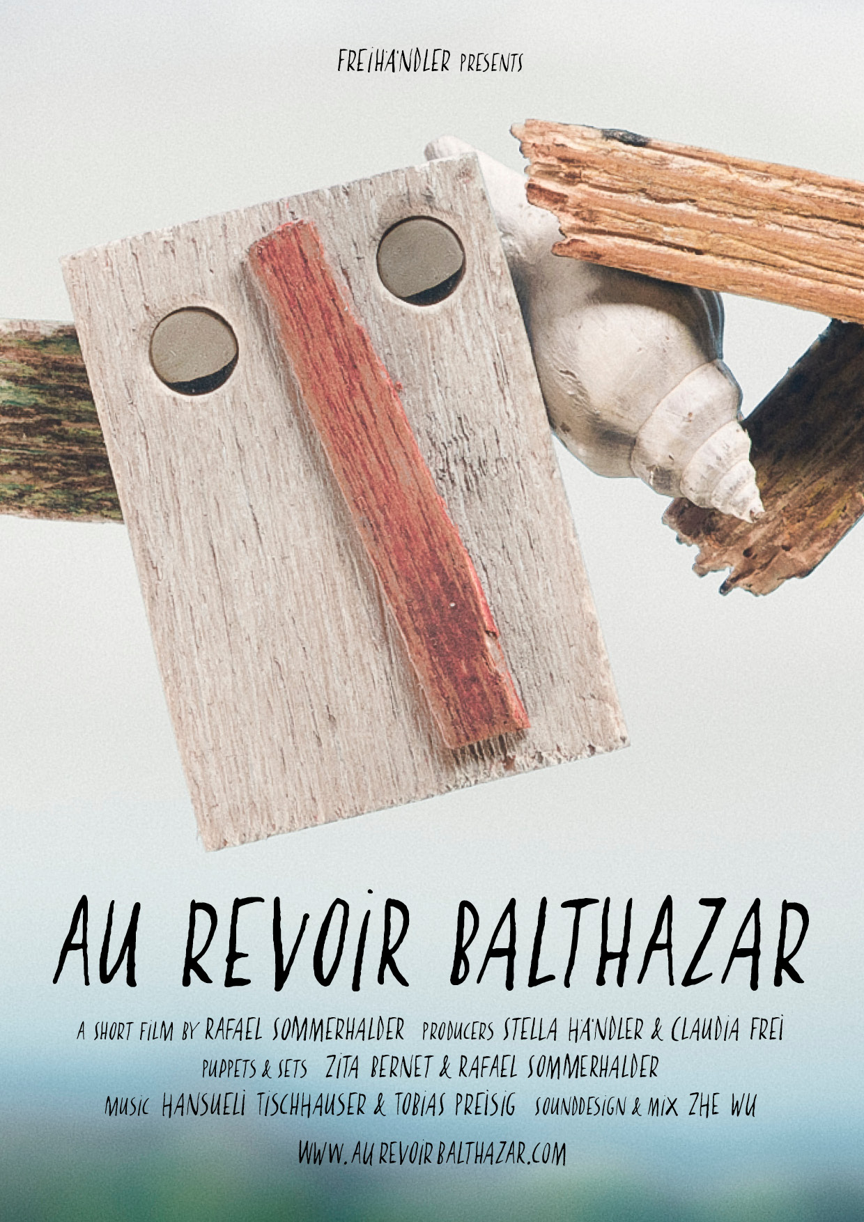Au Revoir Balthazaar - A scarecrow, a storm, a broken leg. The resonant sound of a seashell. Leaving forever. Directed by Rafael Sommerhalder.