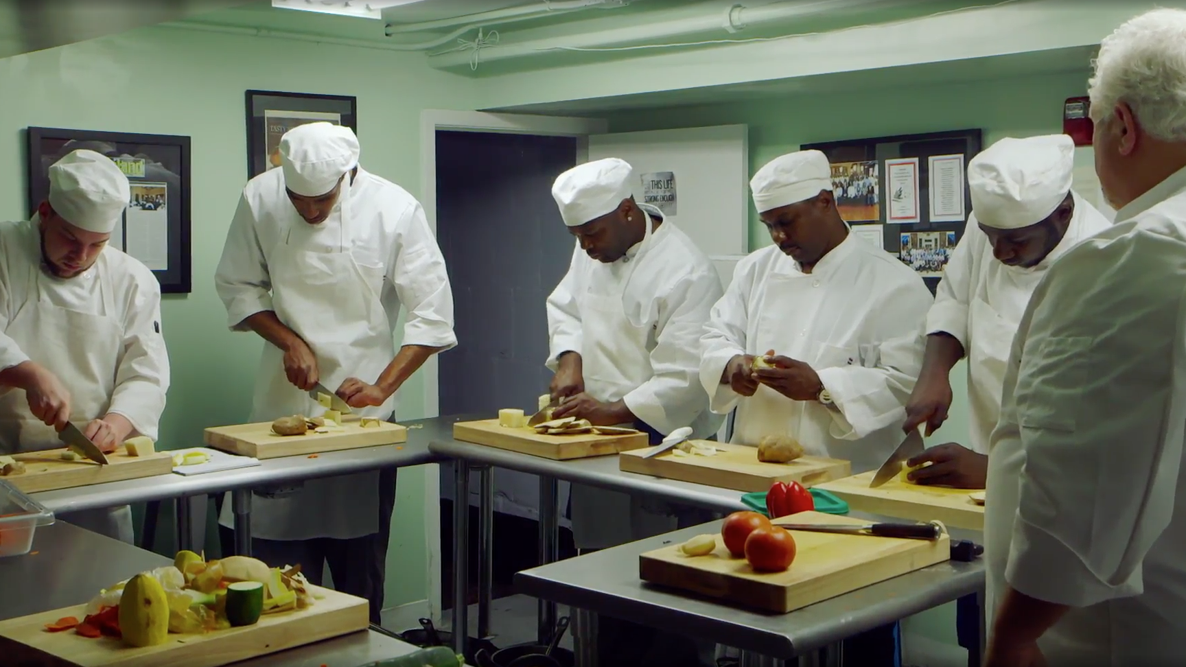 Knife Skills - The inspiring story of a classic French restaurant and the formerly incarcerated people who've made it succeed. Directed by Thomas Lennon.