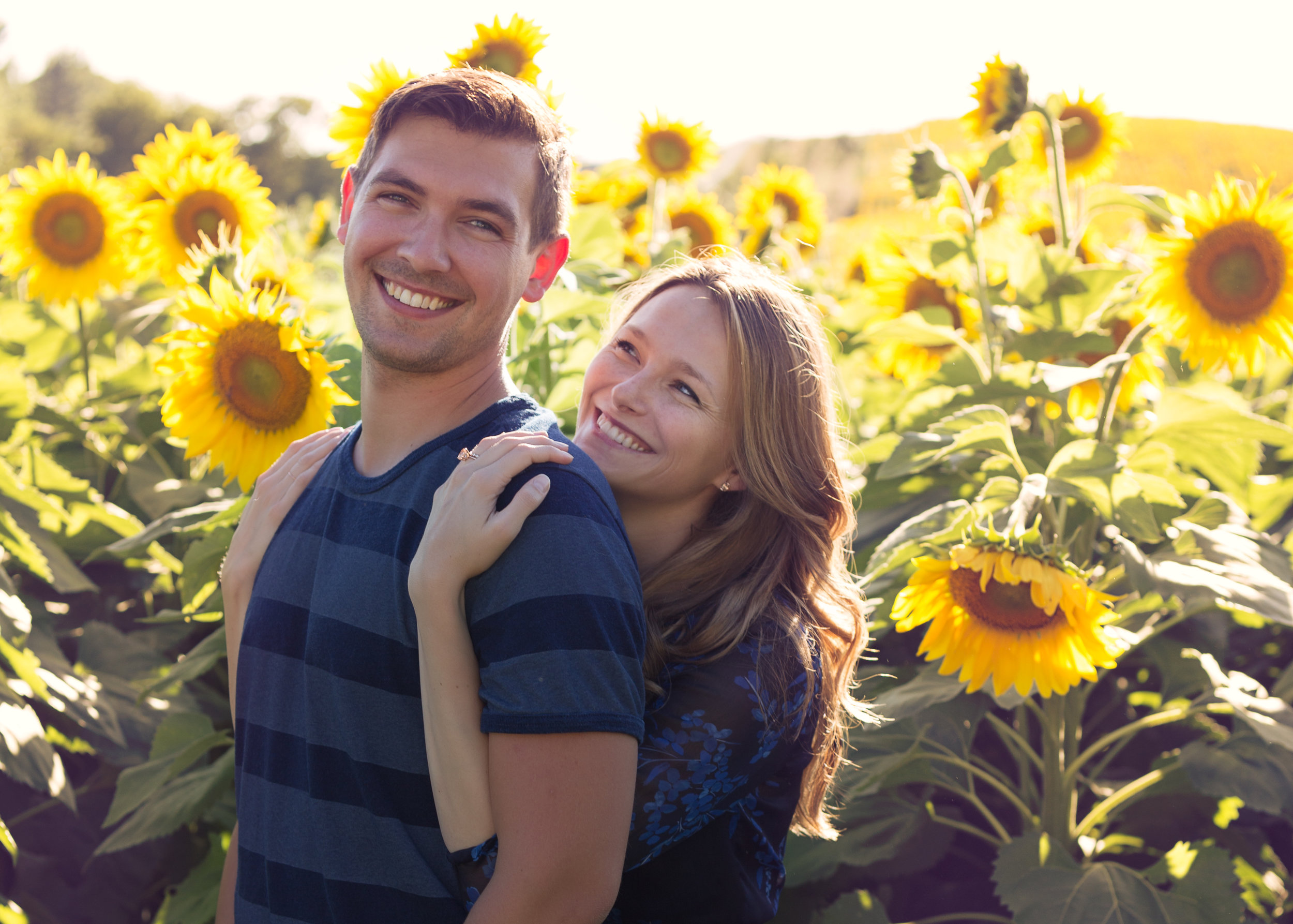 This beautiful couple look like they belong in a magazine! :)