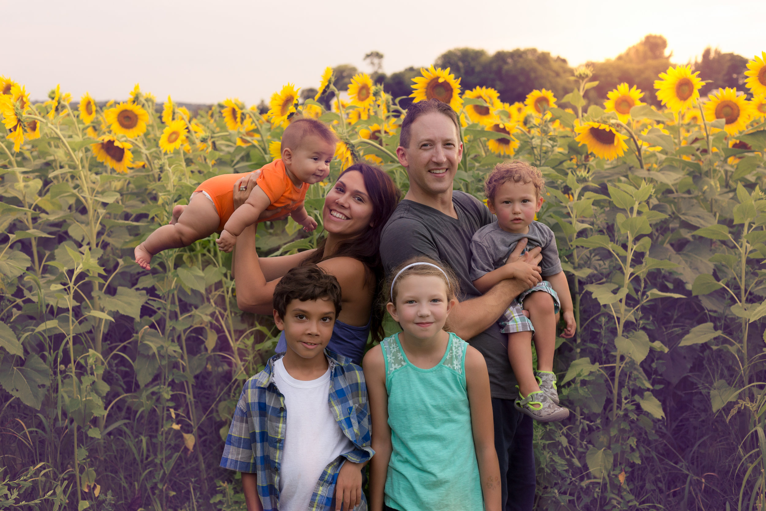 My last session was this fun family of 6!