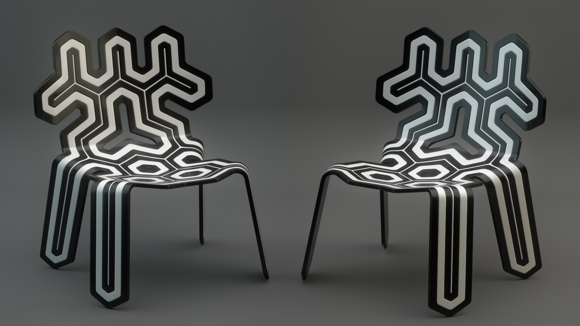 A quick plastic study on some funky cool chairs from a stock model pack.  Plastic is sort of easy/mundane at this point but the chair is just so cool I couldn't pass up the chance to do a quick render.