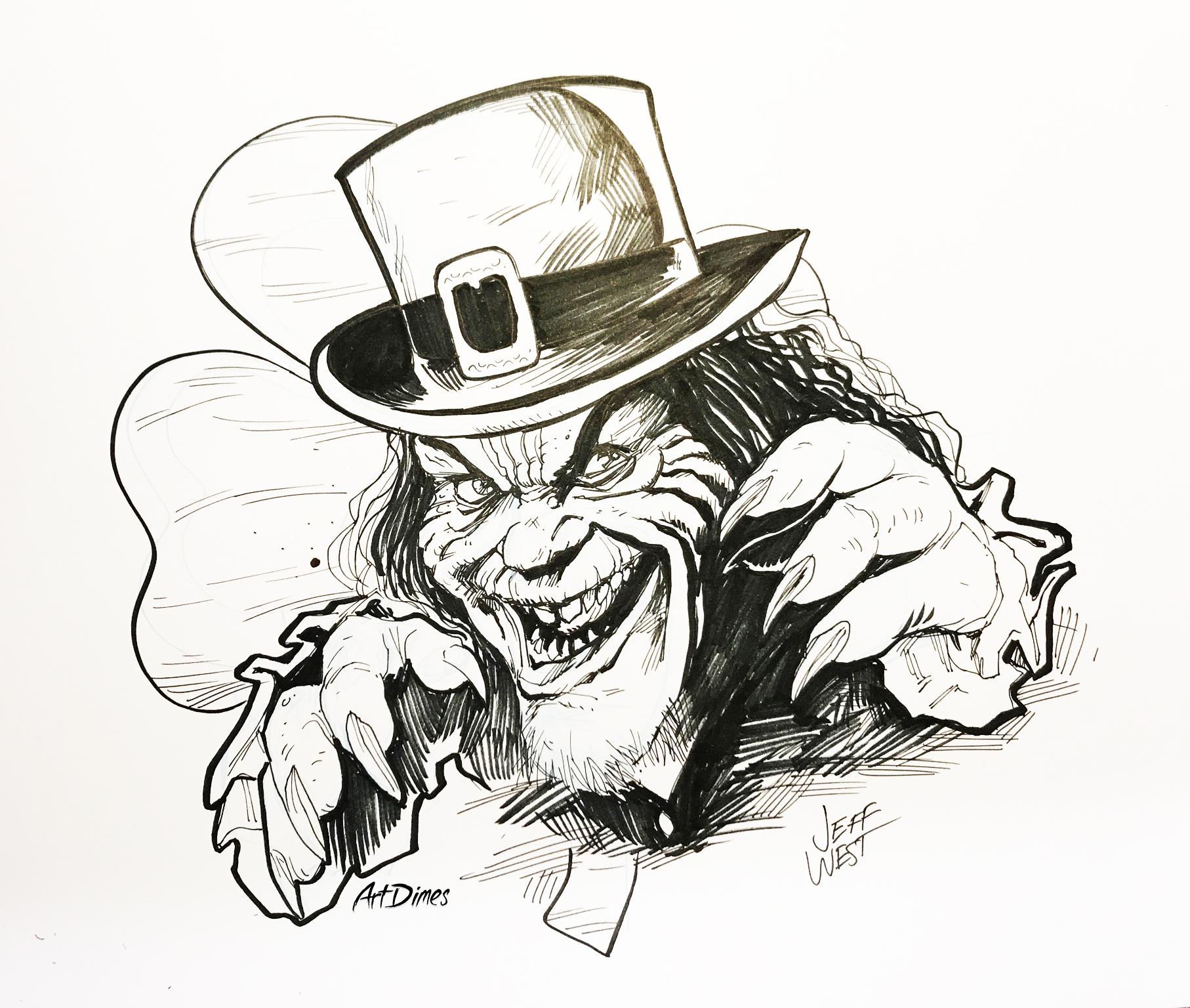 Leprechaun inktober by Art Dimes.jpg