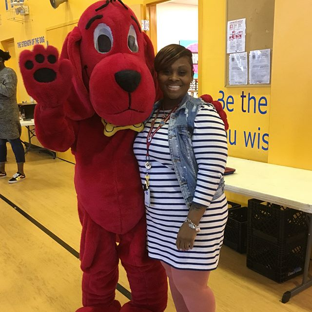 Clifford made a special appearance on campus today to share about the book fair happening this week.  #readbabyread #greatreadersaregreatthinkers