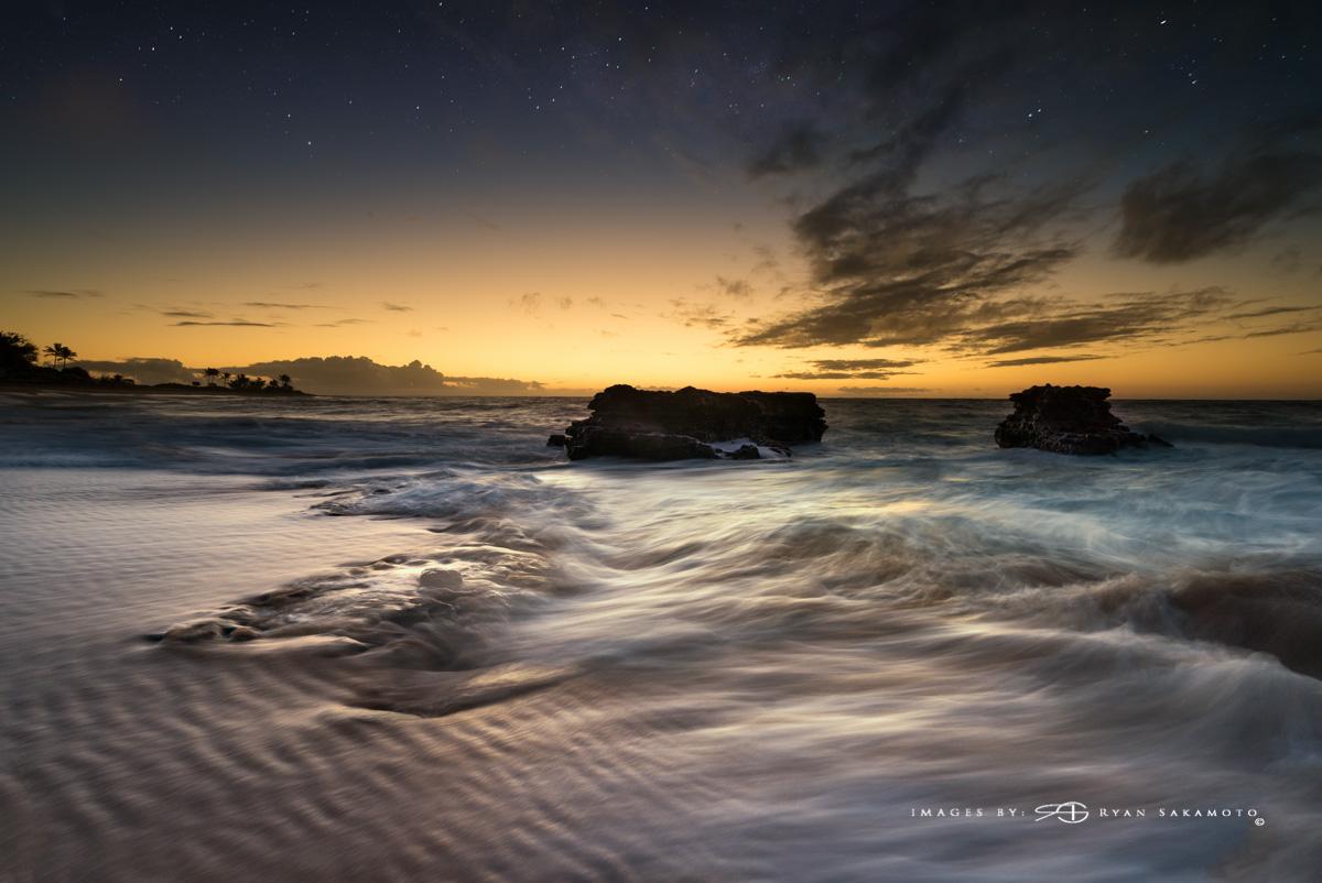 Sandy Beach sunrise Eastside of Honolulu