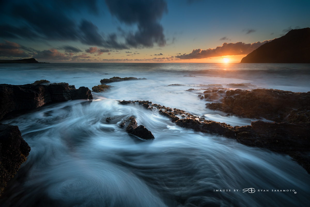 Sunrise Seascape at Makapuu Beach Park Hawaii