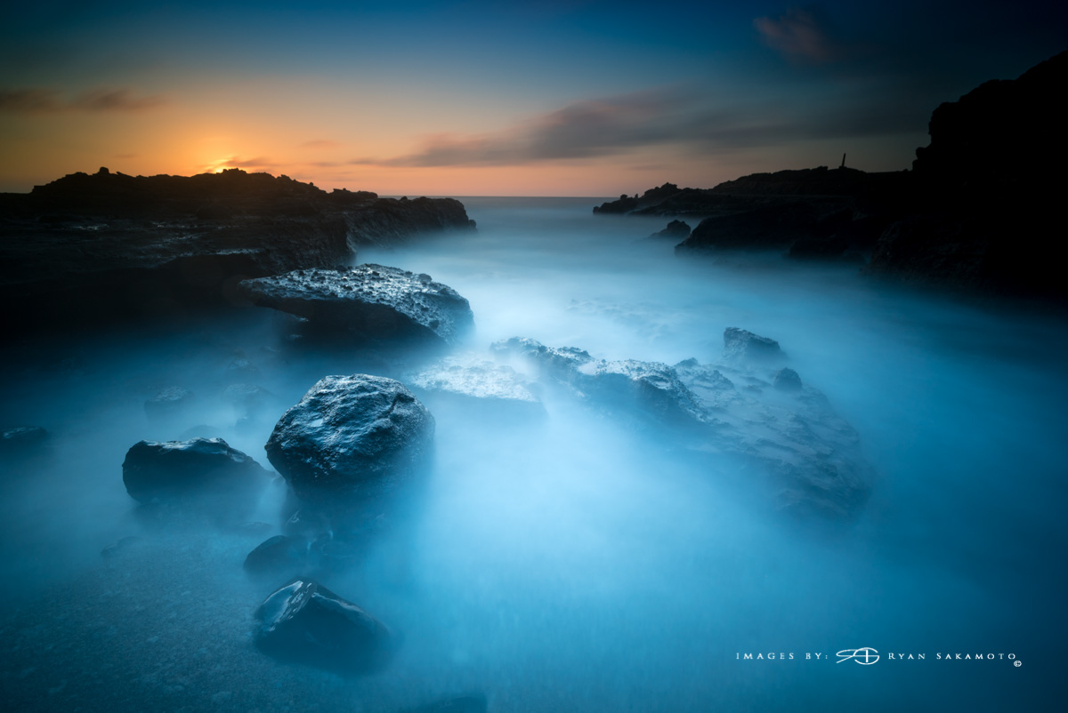 Sunrise at Sandy Beach Park, 02.27.16-Week 2, experimenting with my Lee Filters. Stacked Lee Big Stopper, 3 stop hard grad & 3 stop soft to darken the sky. Sony A7S II...155 sec, f8, ISO 100