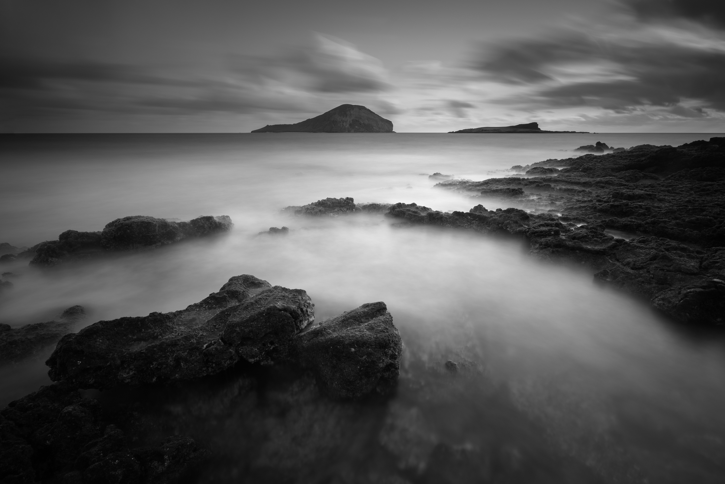Sunrise at Makapuu Beach Park Oahu, Hawaii   Stacked Lee Big Stopper &3 stop hard grad to darken sky   Sony A7S II   121 sec.    f/8    ISO 50     Sony Zeiss 16-35mm f/4   Edited in Lightroom & Photoshop CC 2015   Copyright 2016 Ryan Sakamoto, All rights reserved
