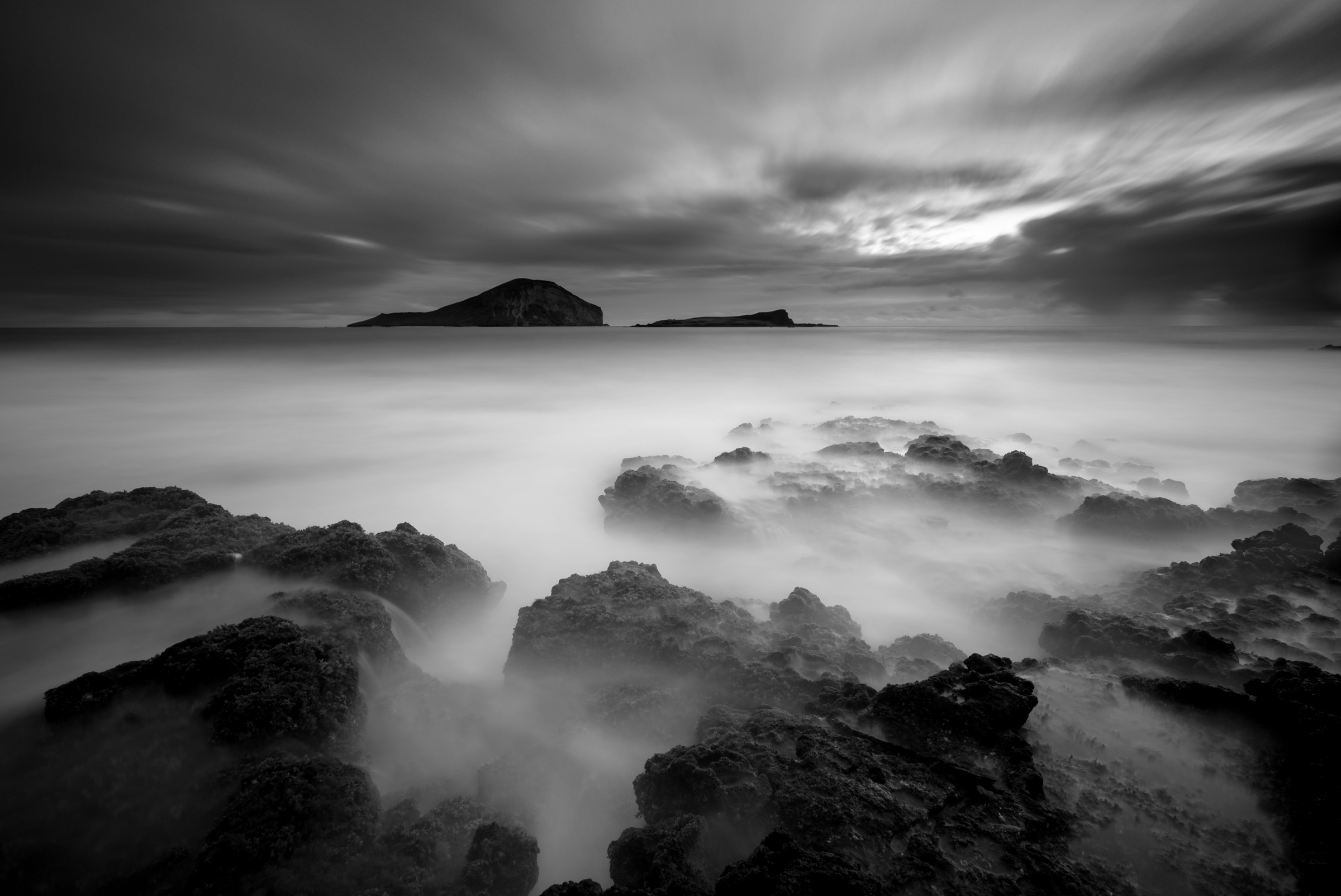 Sunrise at Makapuu Beach Park Oahu, Hawaii Stacked Lee Little Stopper &3 stop hard grad Sony A7S II |  121 sec. |  f/8 |  ISO 50  |  Sony 16-35mm f/4 Edited in Lightroom CC 2015  Copyright 2016 Ryan Sakamoto, All rights reserved