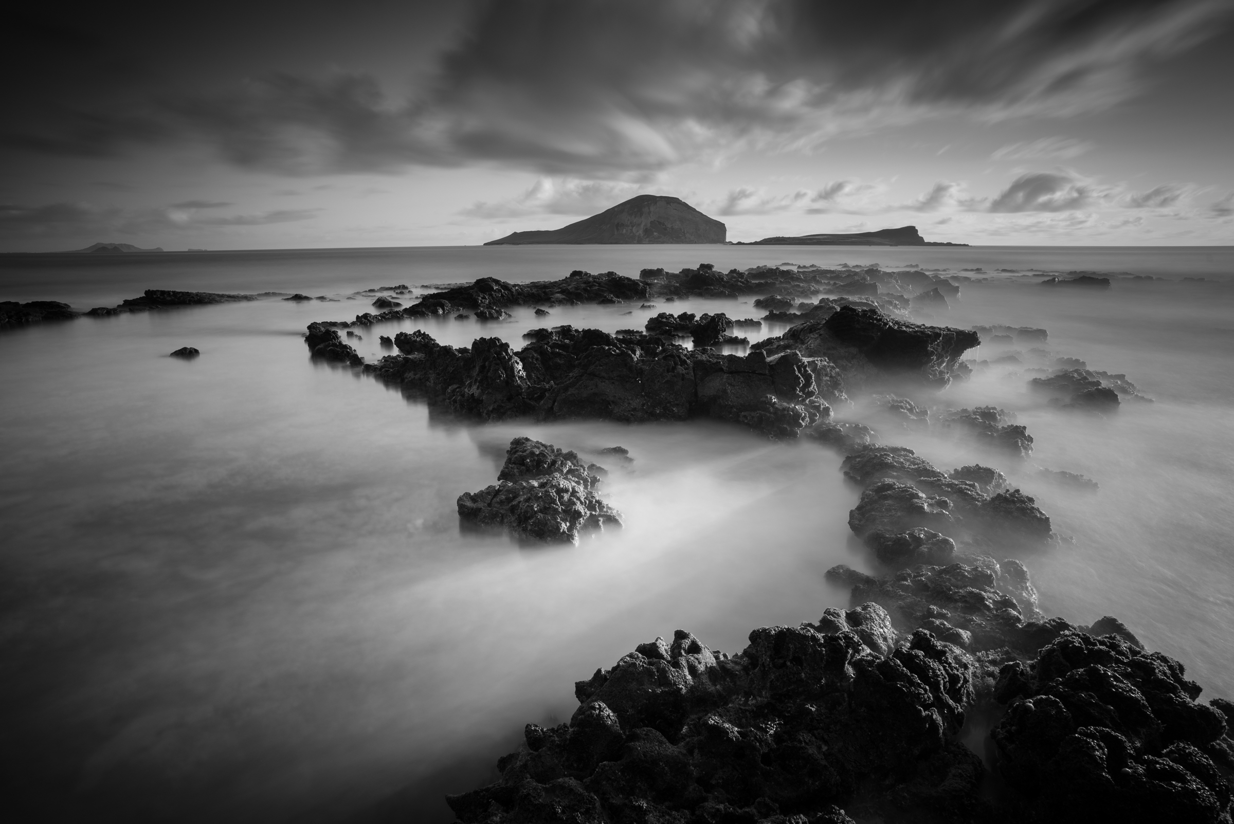 Sunrise at Makapuu Beach Park Oahu, Hawaii Stacked Lee Big Stopper &3 medium soft grad Sony A7S II |  121 sec. |  f/11 |  ISO 50  |  Zeiss Batis 18mm, f/2.8  Edited in Lightroom CC 2015  Copyright 2016 Ryan Sakamoto, All rights reserved