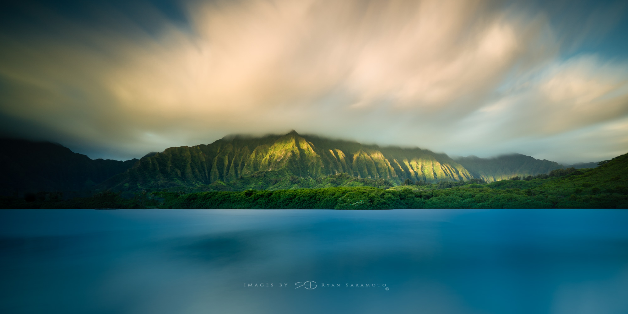 Sunrise from Paepae o He'eia Fish Pond Lee Filter Big Stopper & 3 stop medium grad Sony A7S II |  181 sec. |  f/8  |  ISO 50  |  Zeiss Batis 18mm  Edited in Lightroom & Photoshop CC 2015  Copyright 2016 Ryan Sakamoto, All rights reserved