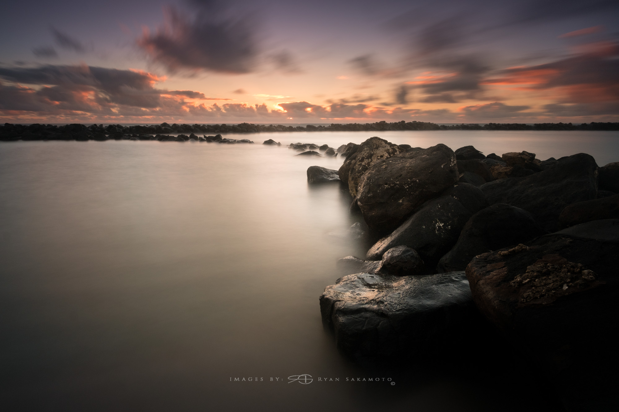 Kauai Sunrise  Lee Filter Big Stopper & 3 stop medium grad  Fuji XPro 2  |  60 sec. |  f/11|  ISO 200  |  Zeiss Touit 2.8/12mm  Edited in Lightroom & Photoshop CC 2015  Copyright 2016 Ryan Sakamoto, All rights reserved