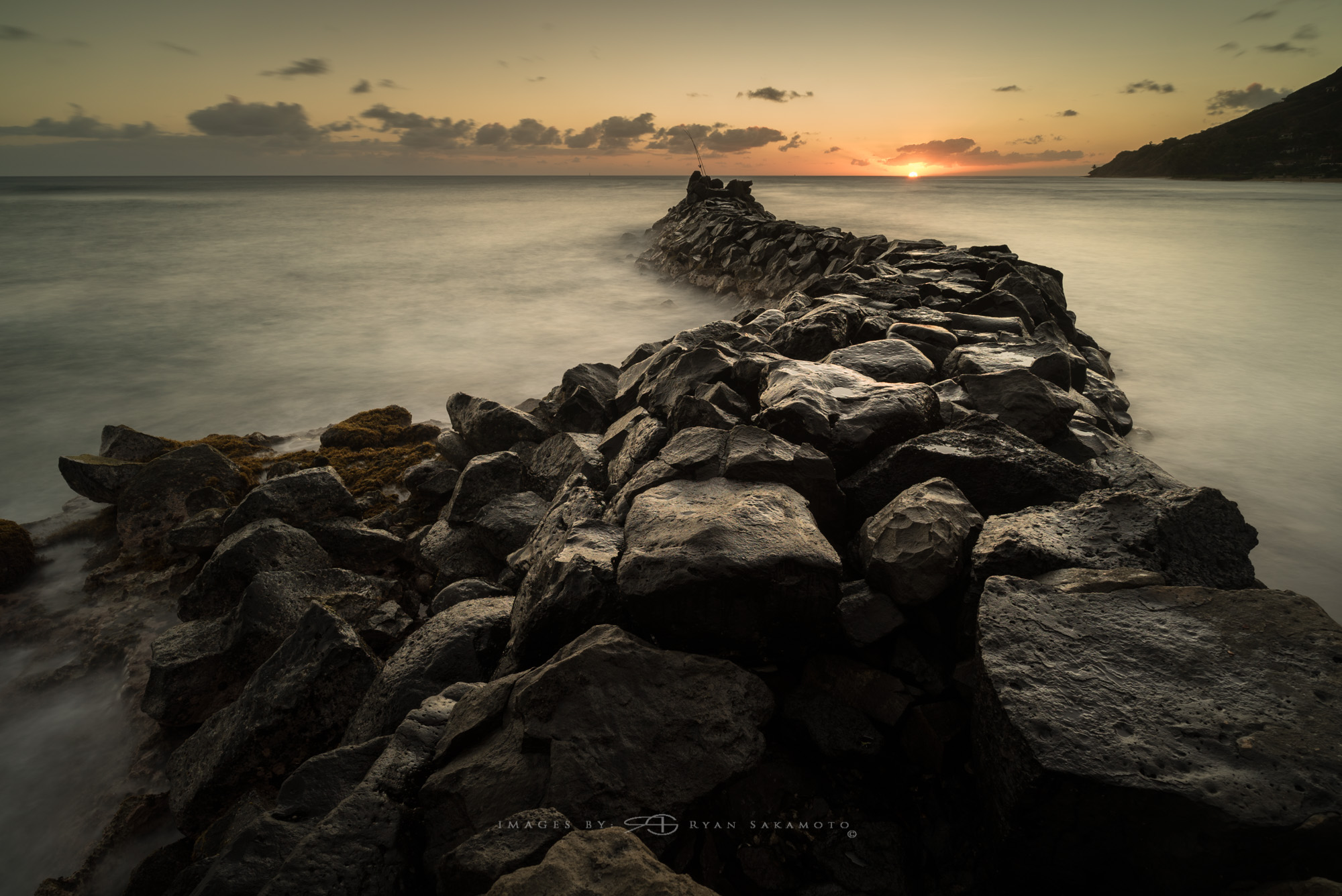 Sunrise Photography Collection Lee Filter Big Stopper & 3 stop medium grad Sony A7S II |  13 sec. |  f/8  |  ISO 50  |  Zeiss Batis 2.8/18mm  Edited in Lightroom CC 2015  Copyright 2016 Ryan Sakamoto, All rights reserved