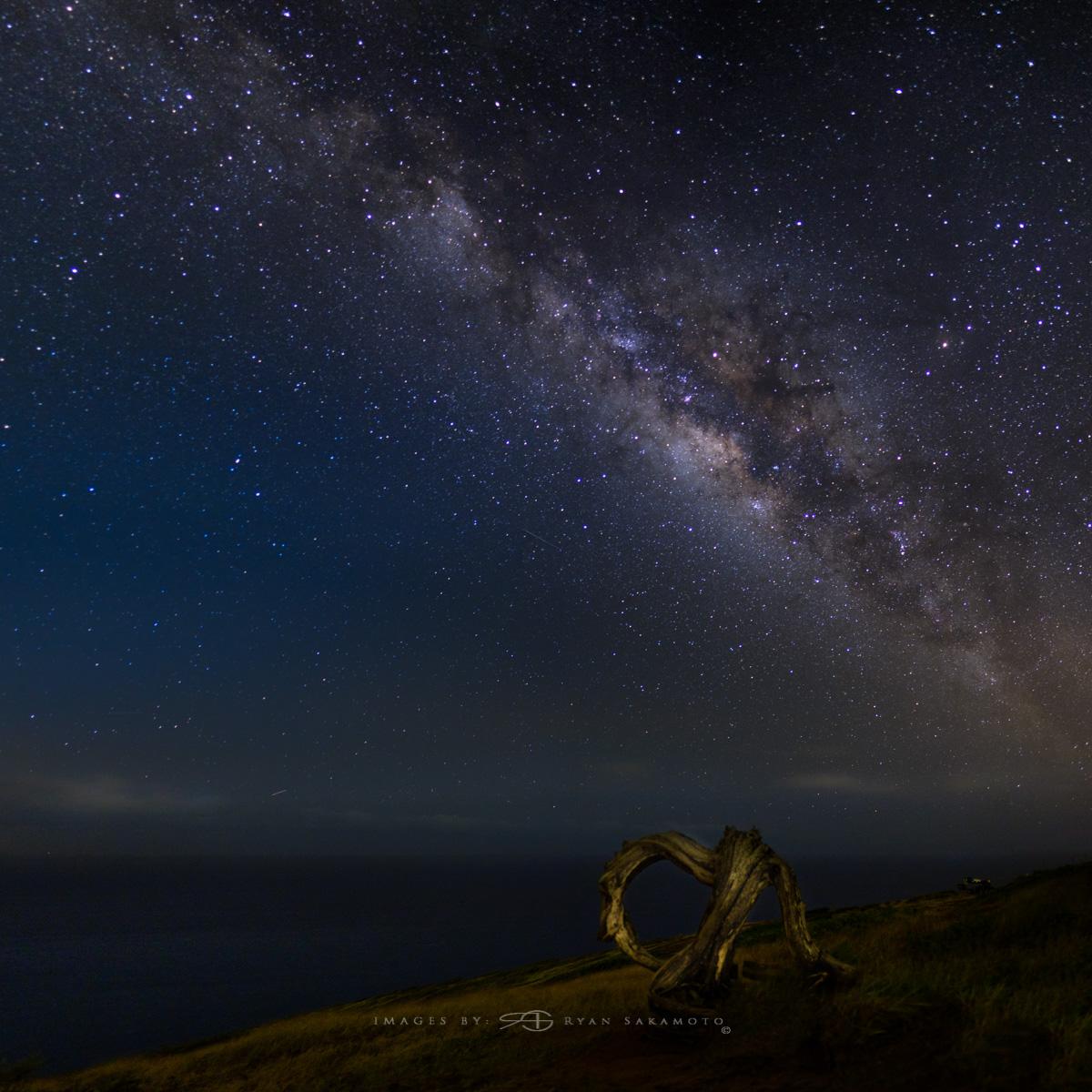 Milky Way from the top of Hanauma Bay Honolulu,Hawaii  Fuji XT2  |  30 sec. |  f/1.4  |  ISO 640  |   XF16mm f/1.4 R WR   Edited in Lightroom & Photoshop CC 2017