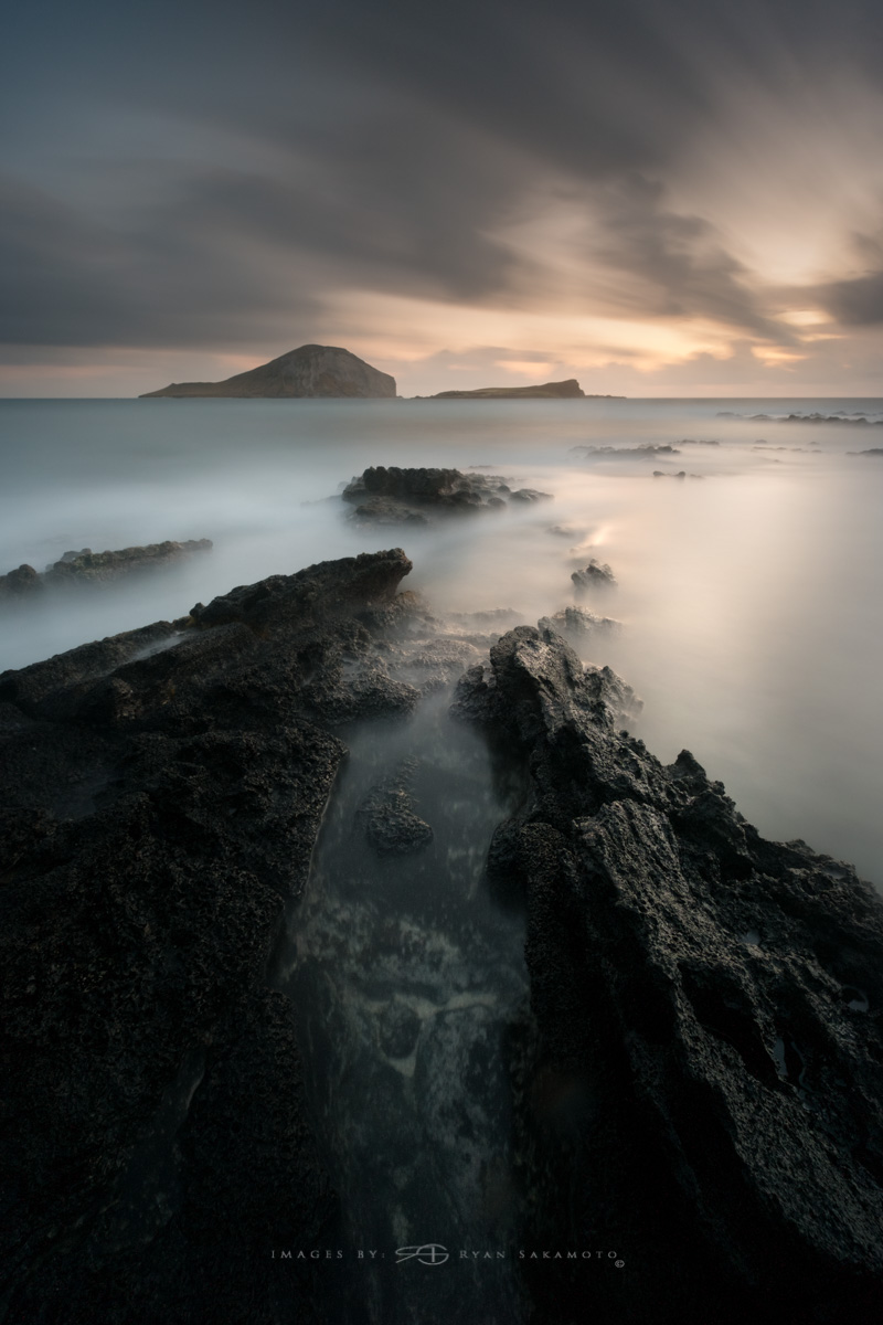 Sunrise from Makapuu Beach Park, Honolulu, Hawaii  Fuji XT2     240 sec.    f/8     ISO 100      Fujinon XF 10-24mm f/4 R OIS  Edited in Lightroom & Photoshop CC 2017 Copyright 2017 Ryan Sakamoto, All rights reserved