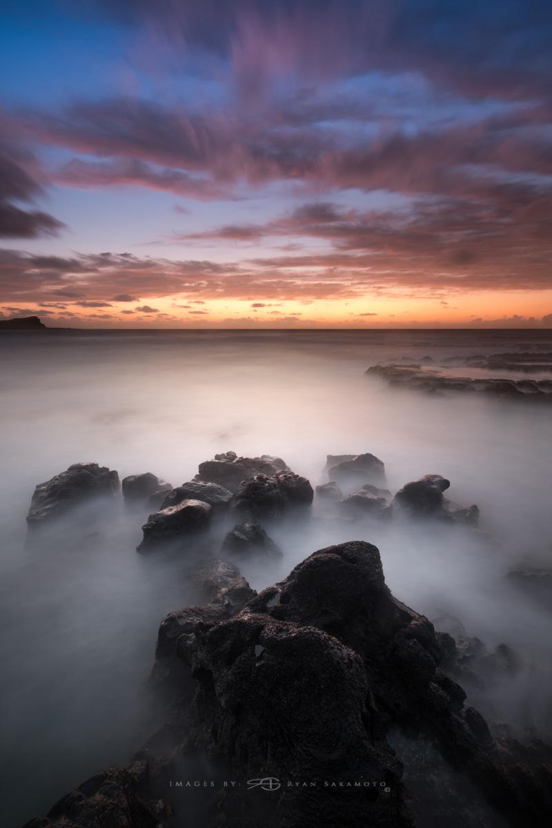 Sunrise from Makapuu Beach Park, Honolulu, Hawaii  Fuji XT2     50 sec.    f/8     ISO 100      Fujinon XF 10-24mm f/4 R OIS  Edited in Lightroom & Photoshop CC 2017 Copyright 2017 Ryan Sakamoto, All rights reserved