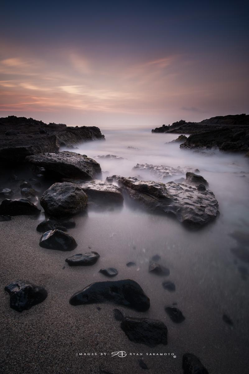 Sunrise from Sandy Beach Park, Honolulu, Hawaii  Fuji XT2  |  240 sec. |  f/8  |  ISO 200  |   Rokinon 12mm F/2 NCS  Edited in Lightroom & Photoshop CC 2017 Copyright 2017 Ryan Sakamoto, All rights reserved