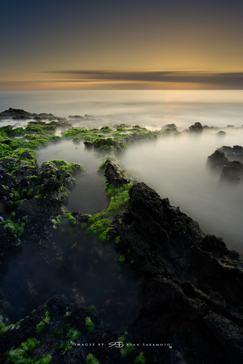 Sunrise from Sandy Beach Park, Honolulu, Hawaii  Sony A7R III  |  60 sec. |  f/8  |  ISO 50 | Sony FE 16-35mm GM F/2.8    BREAKTHROUGH PHOTOGRAPHY X4 stacked filters, 10-stop 100x100mm ND, 3-stop hard reverse 100x150  Edited in Lightroom Classic CC 2018 Copyright 2017 Ryan Sakamoto, All rights reserved