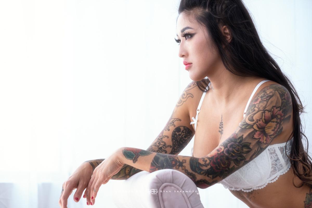Marie Makowski tattoo artist from 808 Tattoo in Kaneohe.
