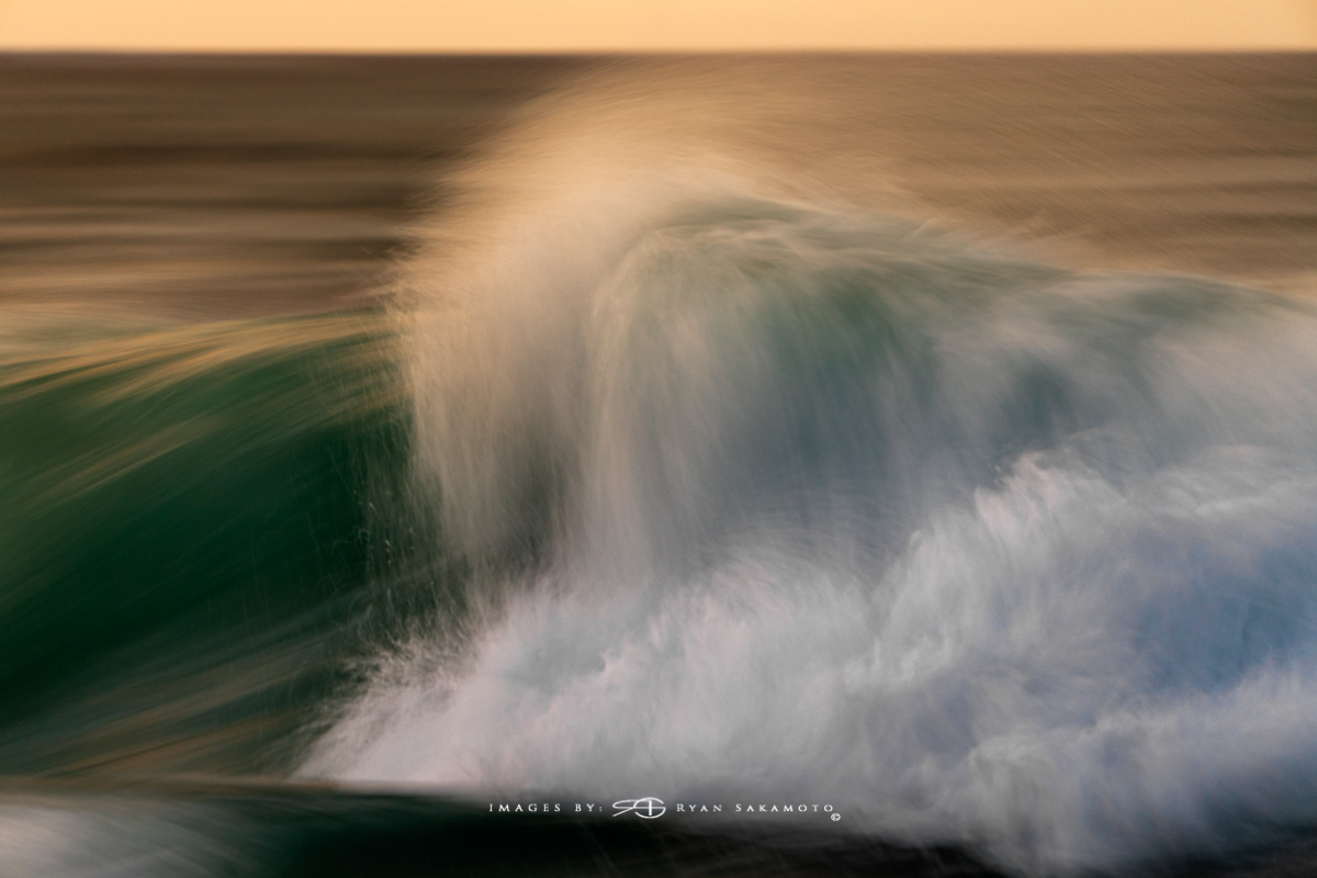 Sunrise from Sandy Beach, Hawaii Long Exposure, Fine Art, Wave Photograph  Sony A7R III       1/6 sec.   f/5.6    ISO 800     S  ony FE 100-400mm GM OSS   Edited in Lightroom Classic & Photoshop CC 2018 Copyright 2018 Ryan Sakamoto, All rights reserved