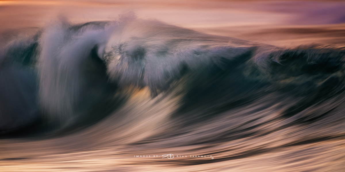 Sunrise from Sandy Beach, Hawaii Fine Art,Long Exposure, Wave Photography  Sony A7R III |   1/6 sec. | f/5.6 | ISO 800 |   S  ony FE 100-400mm GM OSS + 1.4X Teleconverter   Edited in Lightroom Classic & Photoshop CC 2018 Copyright 2018 Ryan Sakamoto, All rights reserved