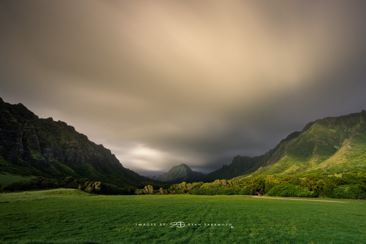 Sunrise from Kualor Ranch Hawaii  Sony A9 | 60 sec. | f/16 | ISO 50 | Sony Sony FE 16-35mm GM F/2.8    BREAKTHROUGH PHOTOGRAPHY X4 stacked filters, 10-stop 100x100mm ND, 3-stop soft grad 100x150, Benro FH100 M2 Filter Holder  Edited in Lightroom Classic CC & Photoshop CC 2018 Copyright 2018 Ryan Sakamoto, All rights reserved