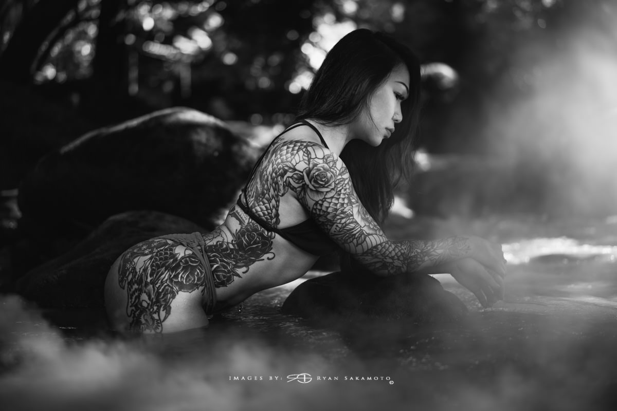 Inked Swimsuit Shoot Model: Kehau, @kemeow  Sony A7R III | 1/250 sec. | f/1.8 | ISO 50 | Sony FE 55mm F1.8 ZA Assistant 1: Dave @ dkfphotoworks  Assistant 2: Reid @ _reid_f_ Edited in Lightroom Classic & Photoshop CC 2018 Copyright 2018 Ryan Sakamoto, All rights reserved