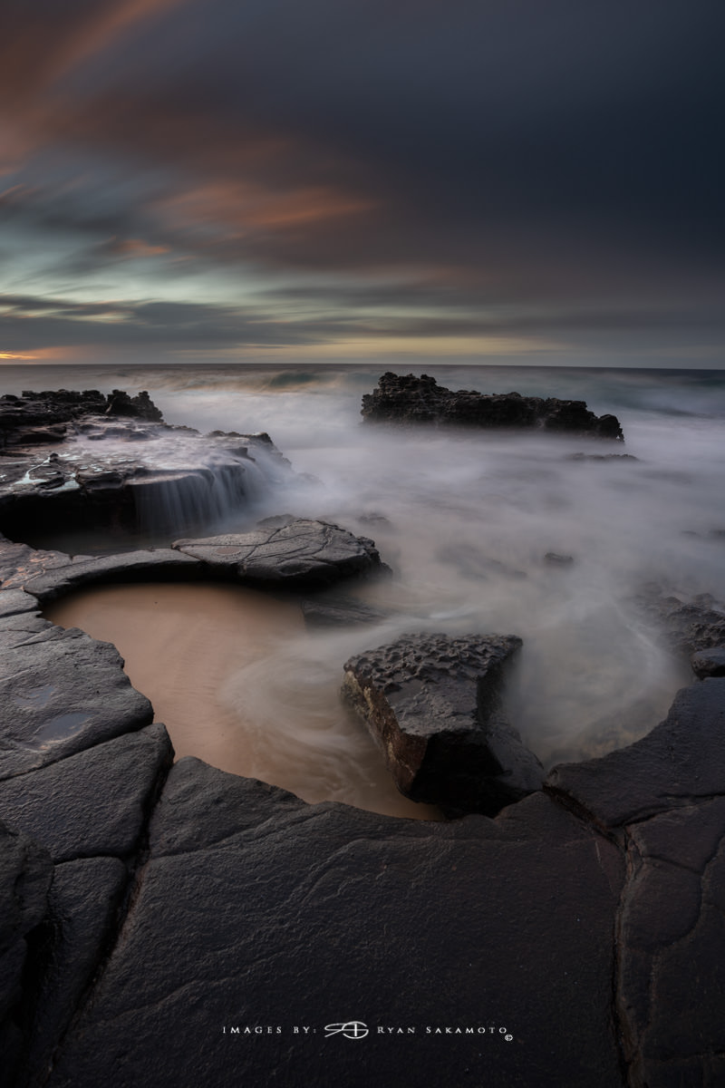 Sunrise from Sandy Beach, Hawaii 5 image composite. Shutter times ranging from 2sec to 4 minutes  Sony A7R III | 2 sec.- 242sec. | f/8 | ISO 100 | Sony FE 100-400mm GM OSS + 1.4X Teleconverter   Edited in Lightroom Classic & Photoshop CC 2018 Copyright 2018 Ryan Sakamoto, All rights reserved