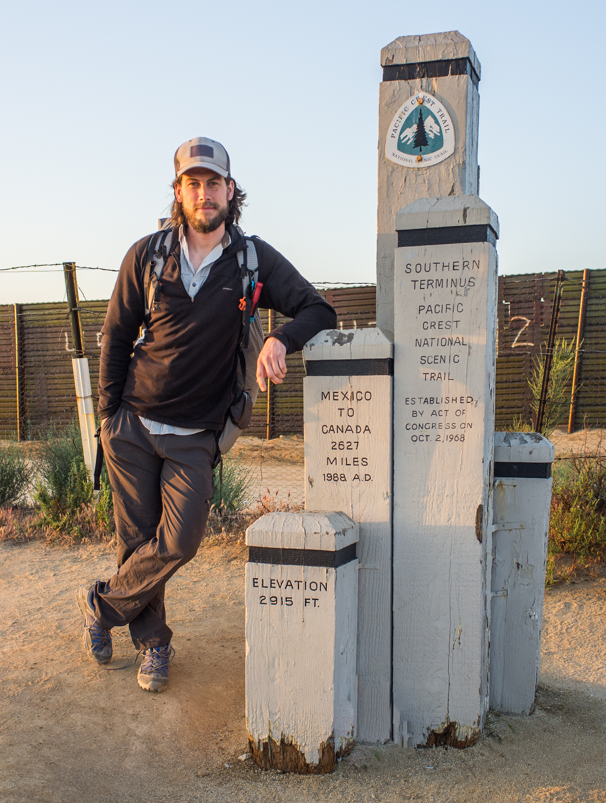 Philip at the beginning of his thru hike of the PCT.