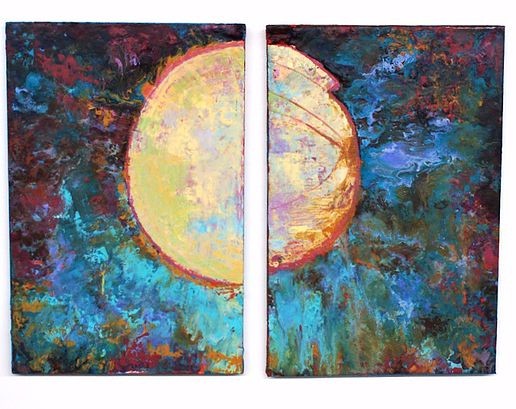 "Lunar Phases   25""x36"""