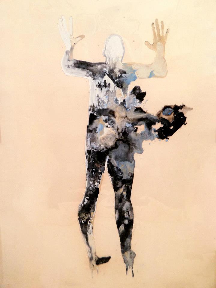 "Creatures of Light  ink on plexiglass  72"" x 48"""