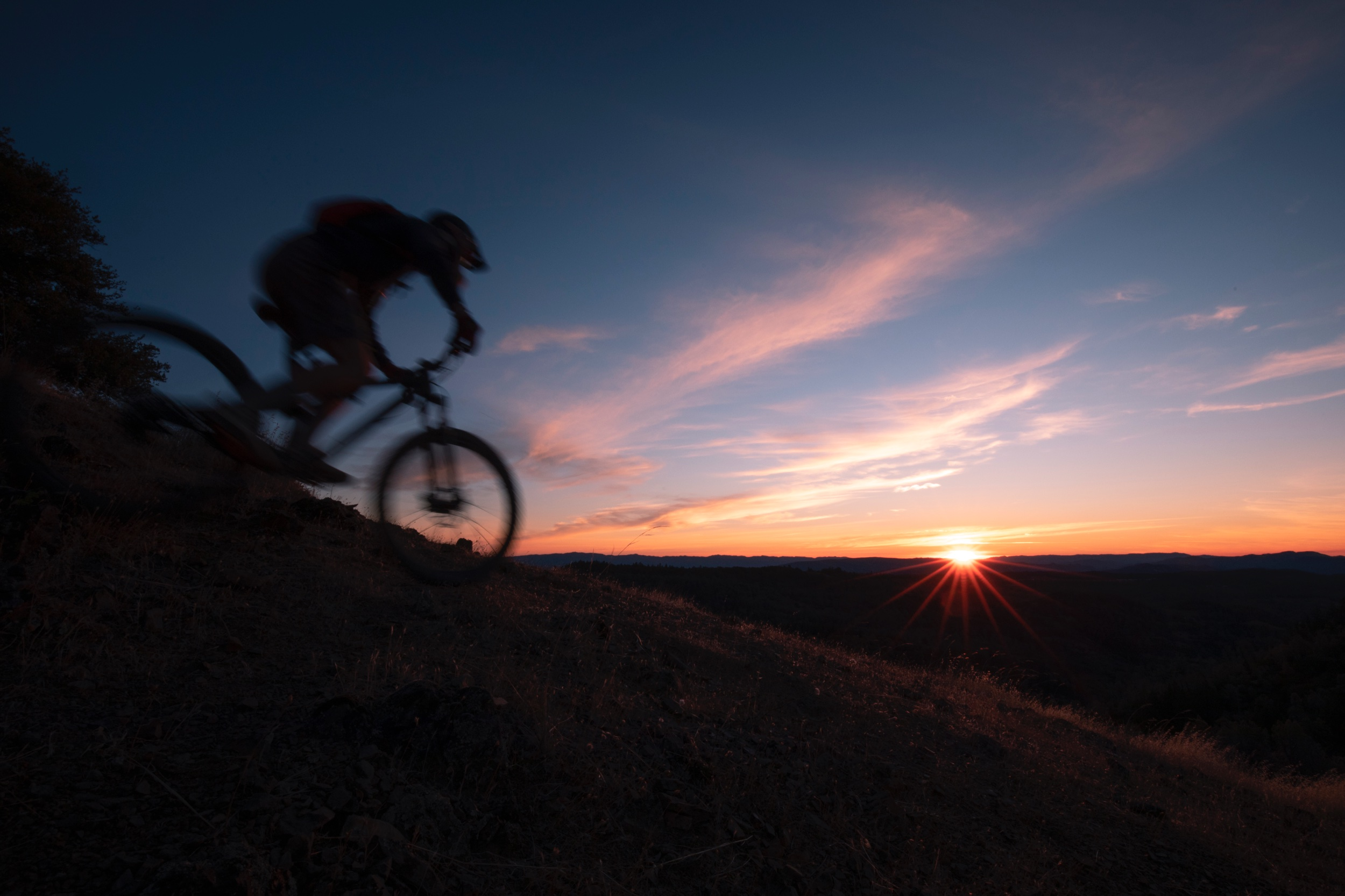 Mountain biking in the Palisades near Angwin