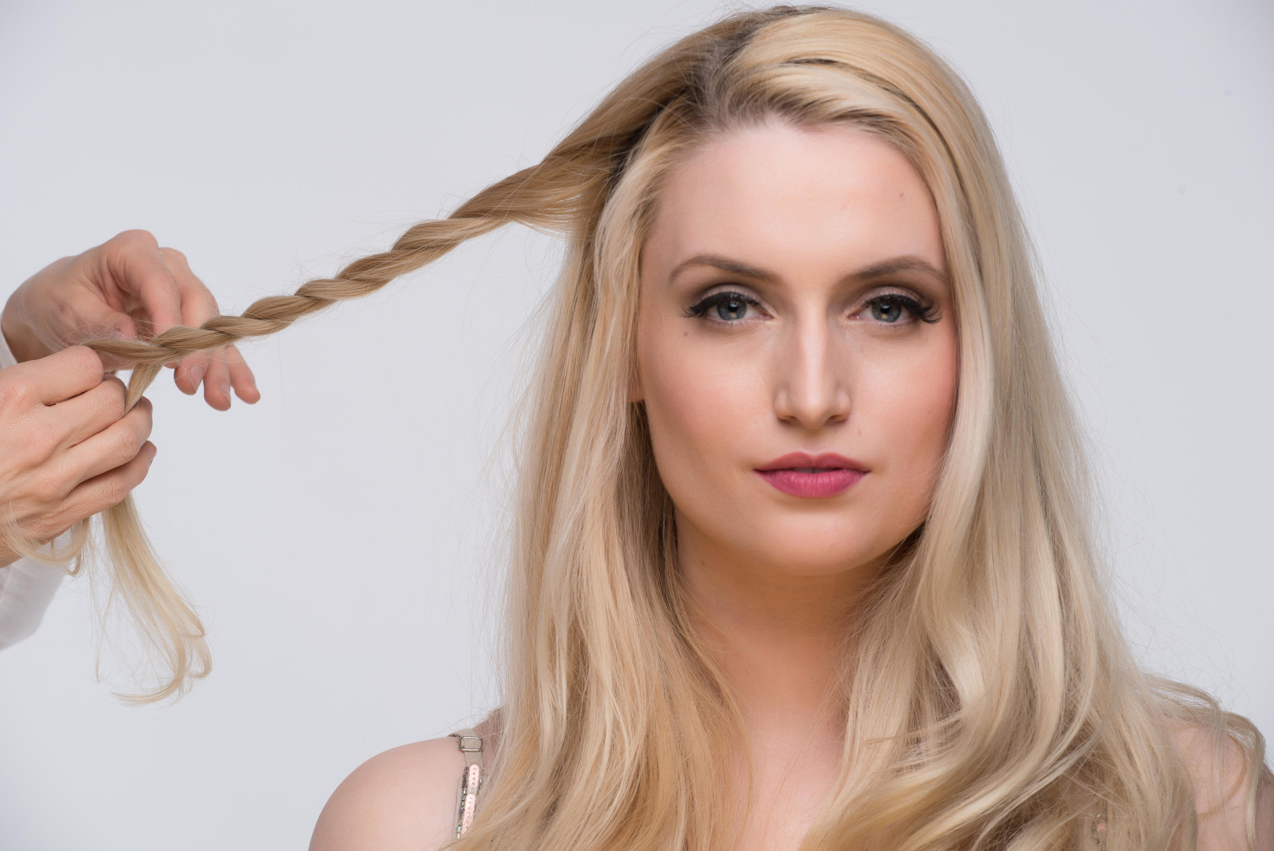 While twisting the hair, reserve the stand when twisting if you would like a tighter look
