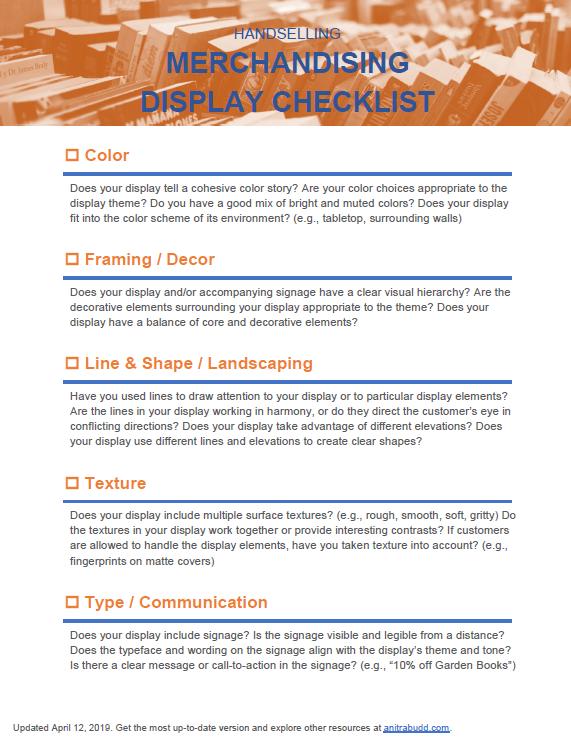 Merchandising Display Checklist