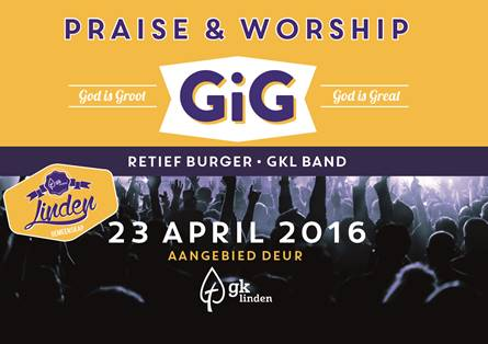 God Is Great | God is Groot | GiG 2016 23 April 2016