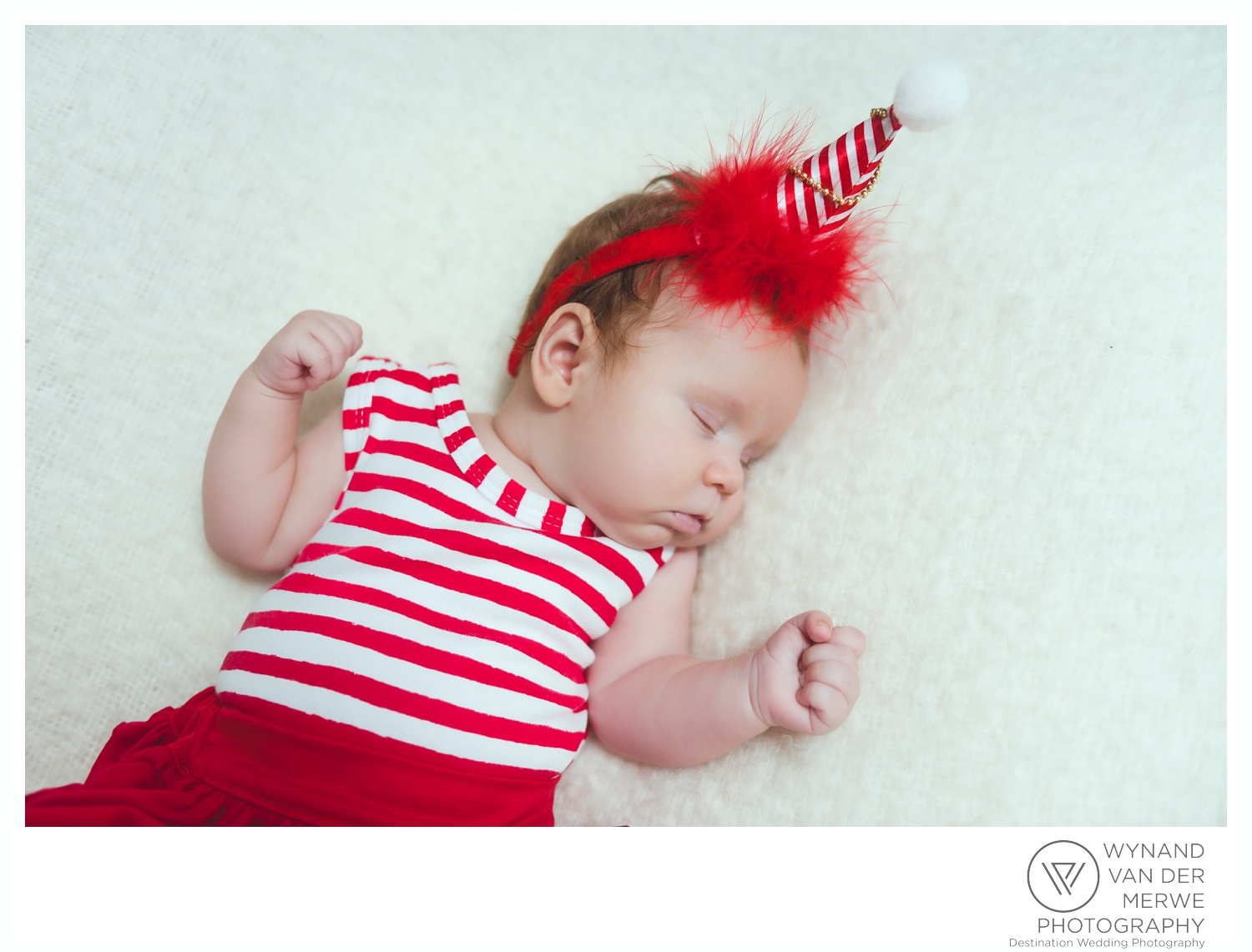 Christmas themed shoot 3 months old