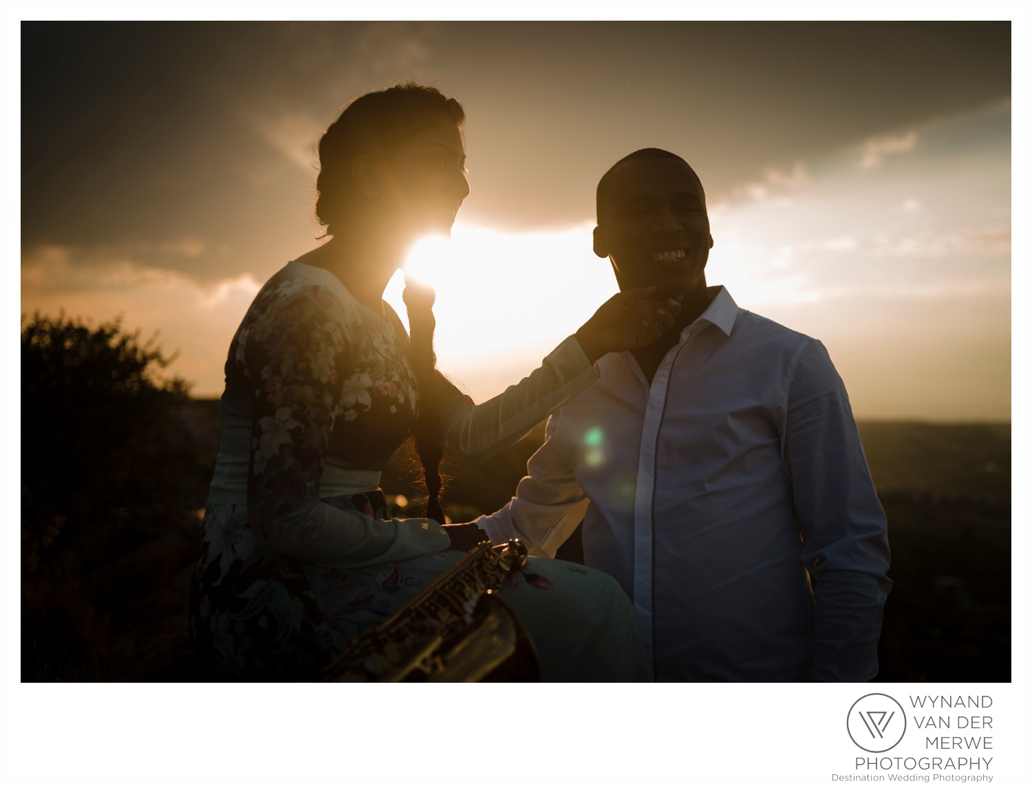 Timothy & Jehdene's beautiful sunset engagement session
