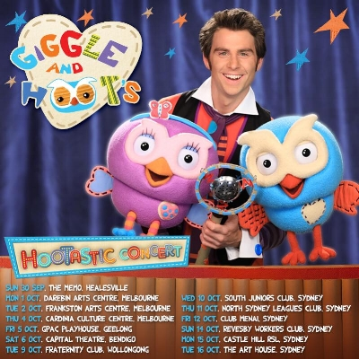 Jimmy Rees is back on the road as Jimmy Giggle in Giggle and Hoots Hootastic Concert! New dates being added - check out  https://lvna.co/GiggleandHoot  for all details
