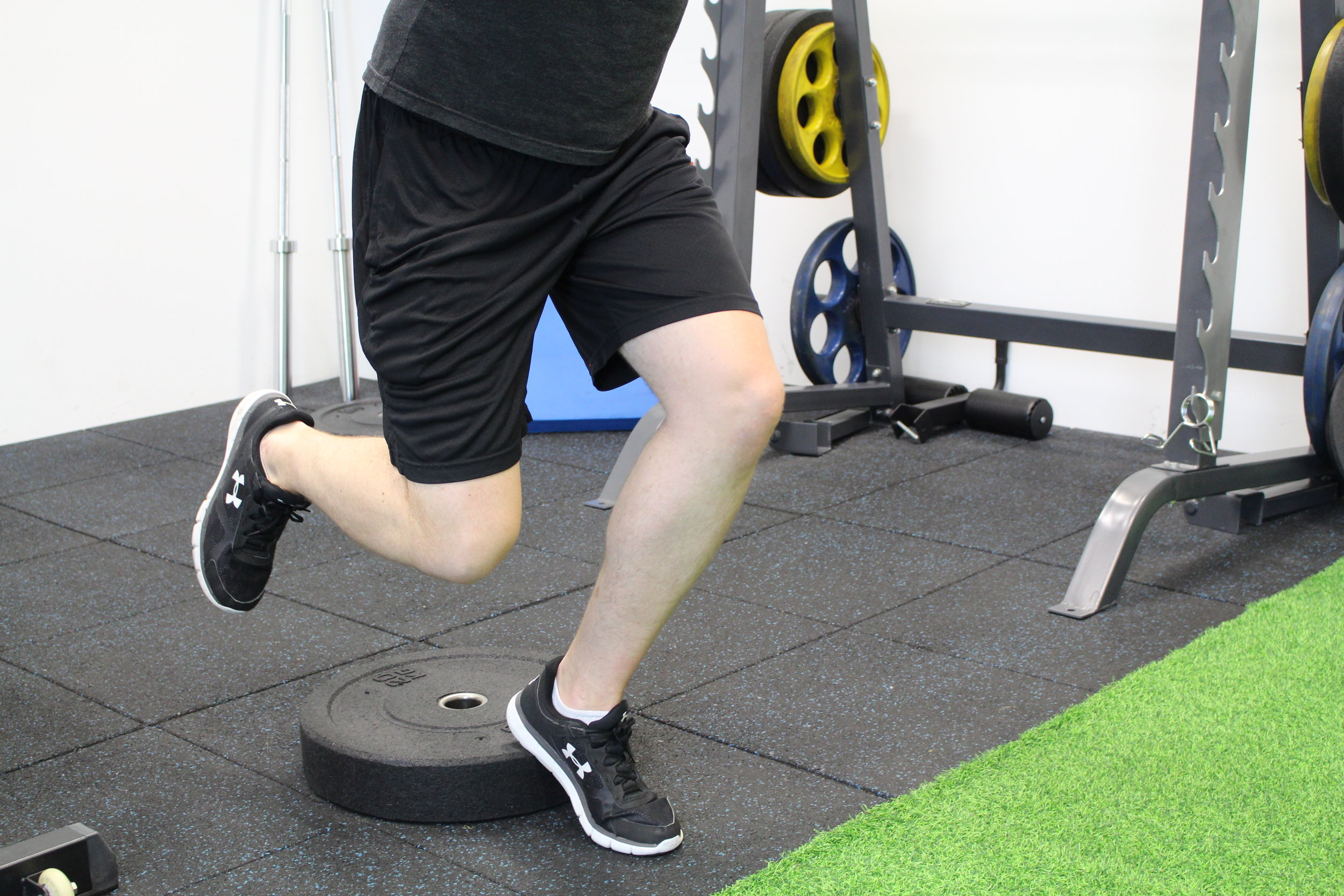 Single leg decline squat to determine Patella Tendonitis