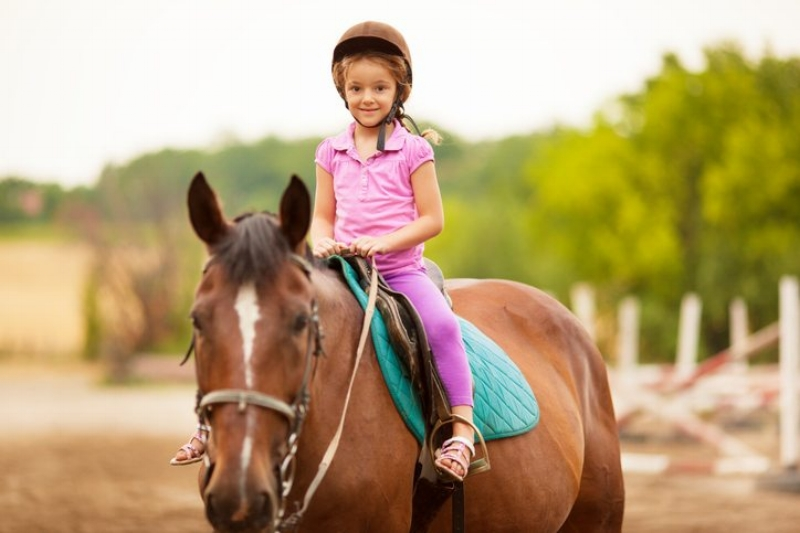 Horse-riding is suitable and beneficial for all ages.