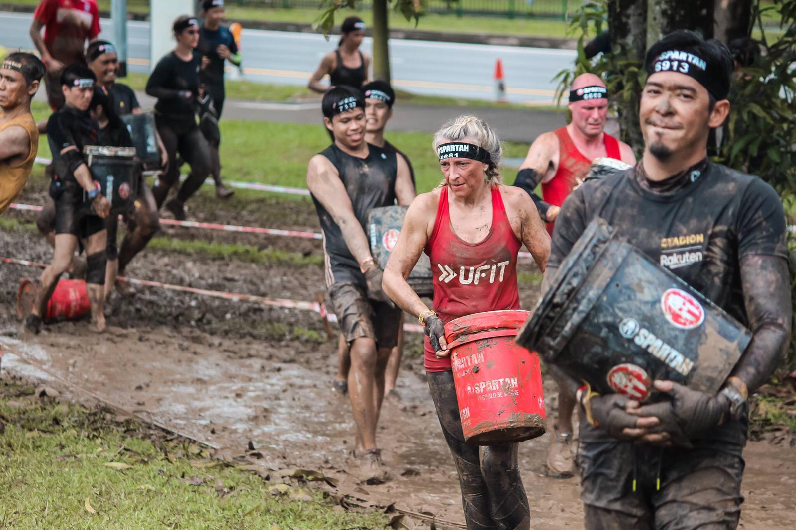Team UFIT at the Spartan Race in Yio Chu Kang in April 2019