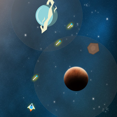 IMPULSE: THE JOURNEY HOME  Utilized SpriteKit, Apple's game framework, to create a space-based physics puzzler.